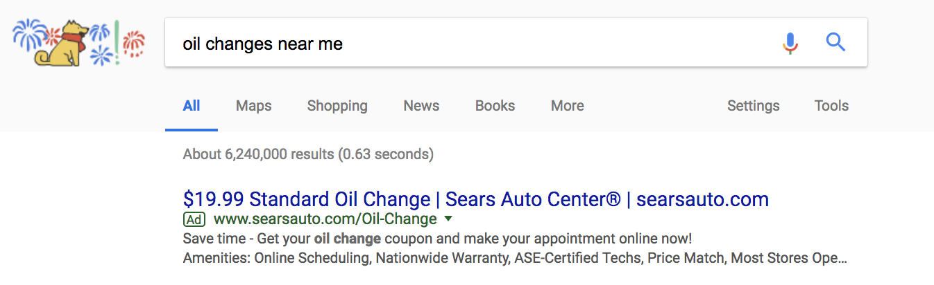 Google Paid Search Advertisement
