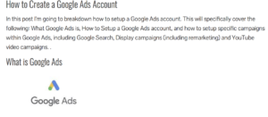 How to Create a Google Ads Account