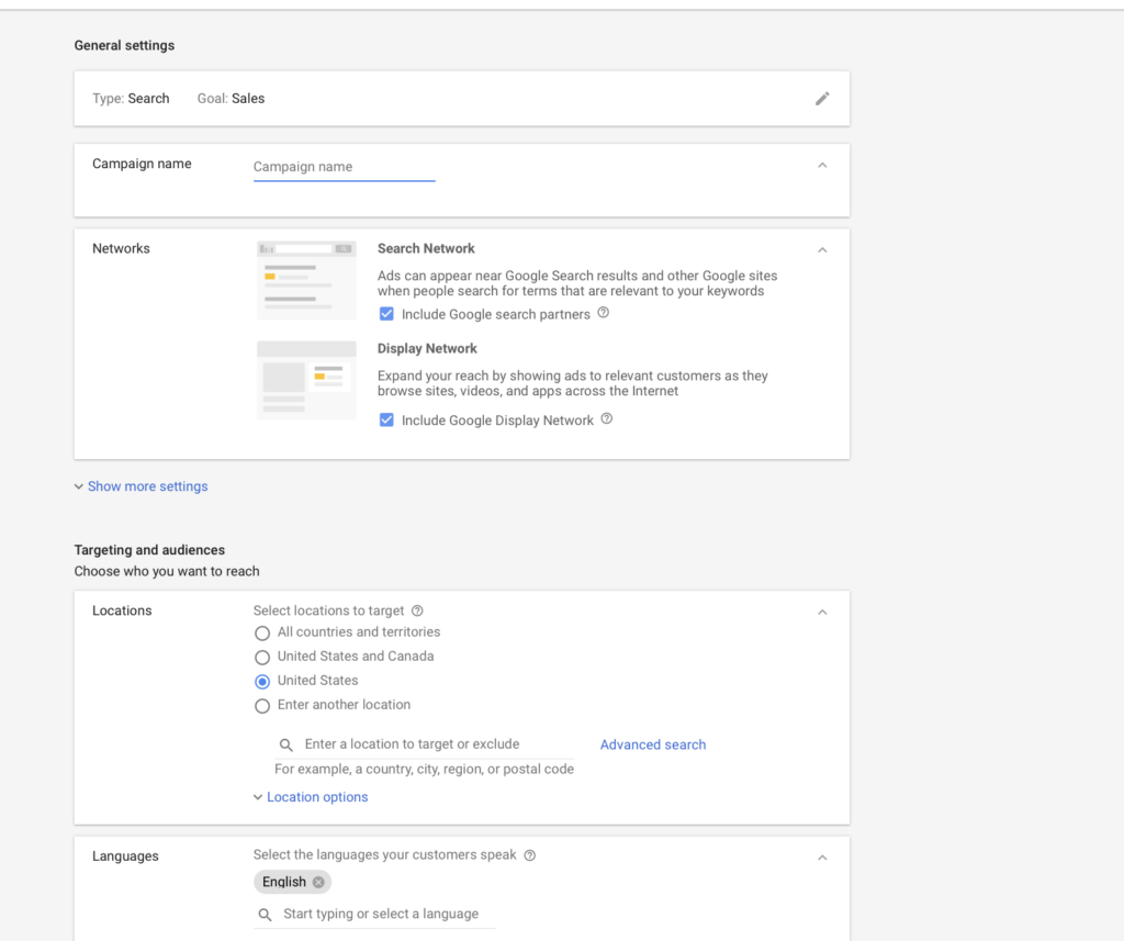 Google Search Campaign