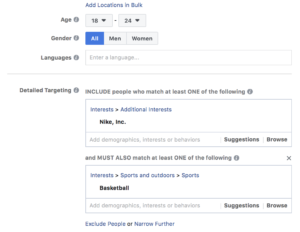 Facebook Layered Audiences