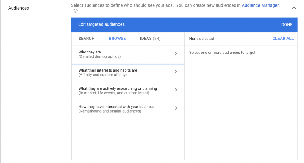 Google Display Audience Targeting